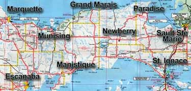 Newberry, Paradise, Sault Ste. Marie, St. Ignace, Manisitique, Escanaba, Marquette, Munising, Grand Marais and all points in between!